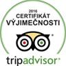 Trip advisor - Certifikát výjimečnosti